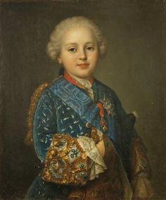 """""""Портрет принца Луи Огюст Франции, герцогом де Берри (1754-1793), будущий король Людовик XVI Франции и Наварры"""" Жан-Martial Frédou (1760)"""