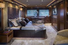 Ferretti Yacht Interior.