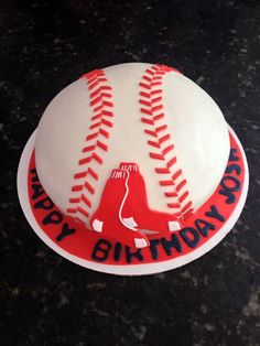 Red Sox cake.