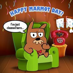 Today is Marmot Day!   But for Grumpy McGrumpy every day is Marmot Day!  Want to know better this grumpy marmot? Play My Grumpy: http://tappsgames.com/app/my-grumpy/ #fashion #style #stylish #love #me #cute #photooftheday #nails #hair #beauty #beautiful #design #model #dress #shoes #heels #styles #outfit #purse #jewelry #shopping #glam #cheerfriends #bestfriends #cheer #friends #indianapolis #cheerleader #allstarcheer #cheercomp  #sale #shop #onlineshopping #dance #cheers #cheerislife…