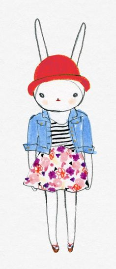 denim shirt and stripes and flowers ... only FIFI!!