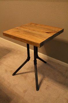 Black Industrial Pipe Legs with Wood Top Side by S2DesignStudio, $175.00