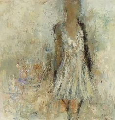 """Secret by Holly Irwin 30x30"""" Mixed media on canvas"""
