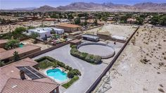 I like the bushes as visual barrier between House and animal Area - maybe would help with dust from corral?  .65 acre layout 5745 Kevin Way, Las Vegas, NV 89149