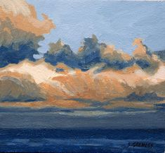 Steve Greaves - Whitby Sky Study  - landscape marine painting in acrylic