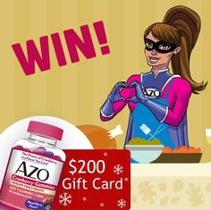 I entered to win a $200 American Express® gift card and FREE AZO Cranberry® Gummies!