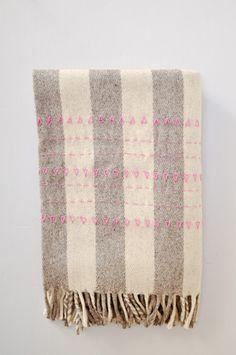 Blanket - Pink Druzi Wool