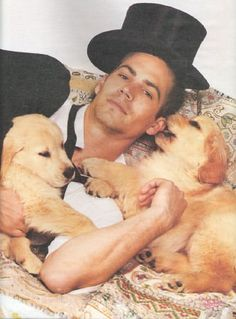 puppies with Paul Walker
