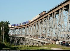 Huey Long Bridge to the Westbank, New Orlenas, LA - the scariest bridge I have ever crossed.  When a train is passing, the entire bridge shakes!  Avoid at all costs!