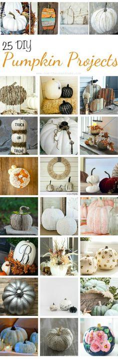 25 DIY Pumpkin Projects