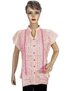 Designer Samlon Tunic Kurti Black Pink Embroidered Women Blouse Tops Large Size Mogul Interior, http://www.amazon.com/dp/B009LYI5IA/ref=cm_sw_r_pi_dp_FcQBqb0T7EGH3$14.99