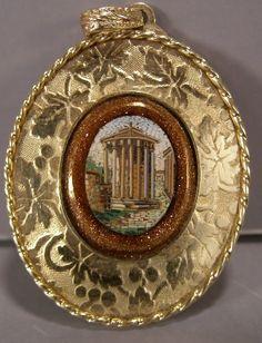 Micro Mosaic - Rome Gold Pin