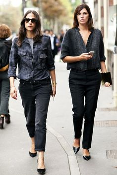 2 Parisian Takes On The Tucked In Button-Down
