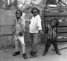Three little boys Kingston, Jamaica. 1974.  Photo by Rose Murray.