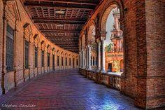 Arches In The Plaza de Espana