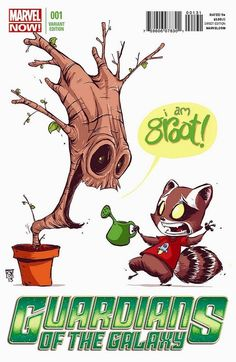 Guardians of the Galaxy #1 Variant Cover By Skottie Young