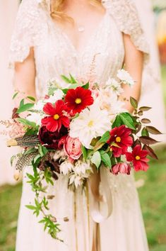Beautiful red and white bouquet. Photo by Shauna Heron