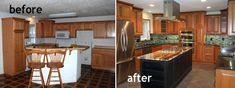 3 Insane Tips Can Change Your Life: Long Kitchen Remodel Wall Colors kitchen remodel dark cabinets dream homes.Lowes Kitchen Remodel Home colonial kitchen remodel layout.Old Galley Kitchen Remodel. 1970s Kitchen Remodel, Ranch Kitchen Remodel, Budget Kitchen Remodel, 1950s Kitchen, Remodel Bathroom, Vintage Kitchen, Remodeling Mobile Homes, Home Remodeling, Kitchen Remodeling