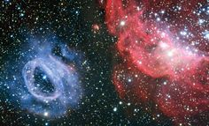 ESO: Due nubi di gas veramente diverse nella galassia della porta accanto - Two very different gas clouds in the galaxy next door