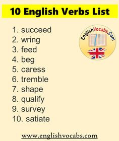 English Verbs List, English Vocabulary Words, Meant To Be, English Vocabulary