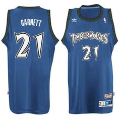 227fae645e8 Kevin Garnett Minnesota Timberwolves adidas Hardwood Classic Swingman Jersey  - Blue