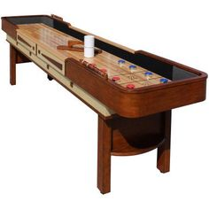 Merlot 12' Shuffleboard Table, Brown