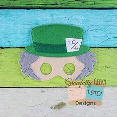 Hatter Felt Mask Embroidery Design - 5x7 Hoop or Larger