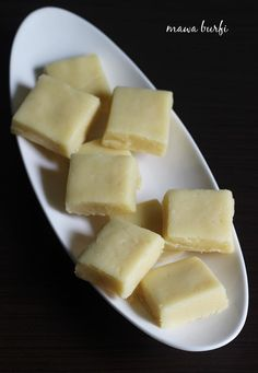 """Terribly named but delicious cardamon shortbread-esque treat. """"easy mawa barfi recipe - Learn how to make mawa barfi with step by step photos. Delicious and easy barfi made under 10 minutes"""" Coconut Barfi Recipe, Burfi Recipe, Milk Recipes, Sweets Recipes, Cooking Recipes, Recipes Dinner, Indian Dessert Recipes, Indian Sweets, Indian Recipes"""