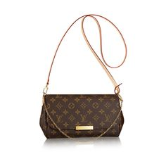e2af6d223f14 Discover Louis Vuitton Favorite MM  The Favorite MM clutch in Monogram  canvas can be carried by hand or on the shoulder thanks to its removable  leather ...