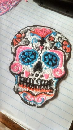 Wild multicolor skull doodle #WhatWillYouCreate