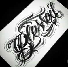Discover recipes, home ideas, style inspiration and other ideas to try. Tattoo Lettering Styles, Chicano Lettering, Graffiti Lettering Fonts, Tattoo Script, Tattoo Fonts, Hand Lettering, Badass Tattoos, Body Art Tattoos, Sleeve Tattoos
