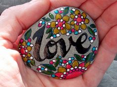Love is the Answer / Painted Rock / Sandi Pike Foundas / Cape Cod Sea Stone
