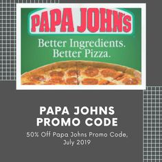 Papa Johns Discount Code, Discount Codes, Papa Johns Promo Codes, Online Coupons, Good Pizza, Need To Know, Coding, How To Get, Food