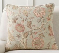 Get double the romantic florals on your sofa with a reversible pillow cover. Sunbrella Pillows, Throw Cushions, Embroidered Cushions, Printed Cushions, Medieval Tapestry, Jewellery Boxes, Soft Furnishings, Decorative Pillows, Pillow Covers