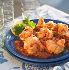 Langosta a la Cubana - Cuban-Style Lobster - Simple, Easy-to-Make Cuban, Spanish, and Latin American Recipes with Photos Lobster Recipes, Seafood Recipes, Cooking Recipes, Drink Recipes, Enchiladas, Cuban Cuisine, Spanish Cuisine, Cuban Recipes, Spanish Recipes