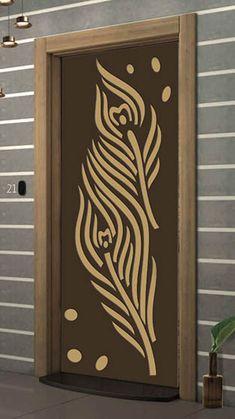 Single Door Design, Wooden Front Door Design, Door Gate Design, Main Door Design, Front Design, Jalli Design, Glass Partition Designs, Cnc Cutting Design, Pooja Room Door Design