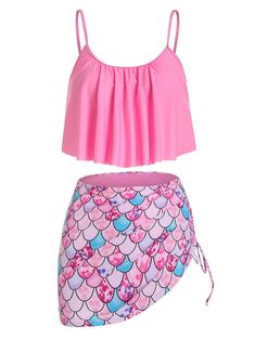 Swimsuits For Teens, Cute Swimsuits, Tankini With Shorts, Tankini Top, Women's Plus Size Swimwear, Swimwear Fashion, Women's Swimwear, Bra Styles, Two Piece Skirt Set