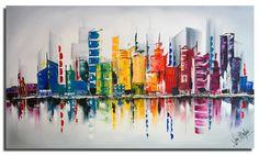 schilderij kleurrijk abstract - Google zoeken