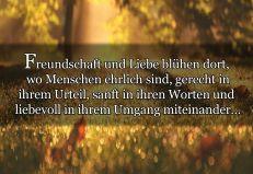 Freundschaft Und Liebe Blühen Dort,  Wo...