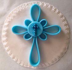 Edible Elegant 3D Cross Cake Topper. Baptism/Christening....