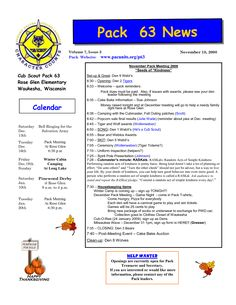 cub scout newsletter template - Google Search