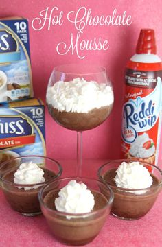 Holiday Hot Chocolate Mousse #YourSeasonIsServed #Ad