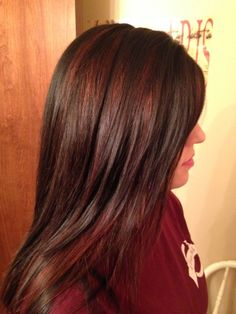 Red Hair Brown Highlights Brown with red highlights