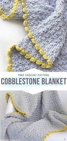 How to Crochet Cobblestone Blanket Cobblestone Blanket Free Crochet Pattern Wow, this blanket is so classy! Chic and charming at the same time, it will make. Crochet Afghans, Crochet Throw Pattern, Crochet Stitches Patterns, Crochet Patterns For Beginners, Knit Or Crochet, Baby Blanket Crochet, Crochet Crafts, Crochet Projects, Free Crochet