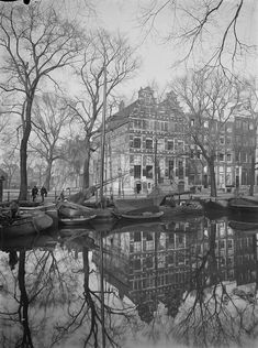 Amsterdam City, Black And White, Painting, Black N White, Black White, Painting Art, Paintings, Painted Canvas, Drawings