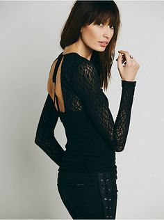 Free People Open Back Lace Layering Top, $48.00