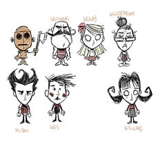 Art Concept for Don't Starve game by Jeff Agala.