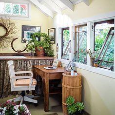 Inside garden designer Rebecca Sweet's backyard shack