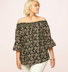 Discover tops that make you feel feminine like our plus size Floral Off the Shoulder Top available in sizes 1x-3x online at loralette.com. Avenue Store