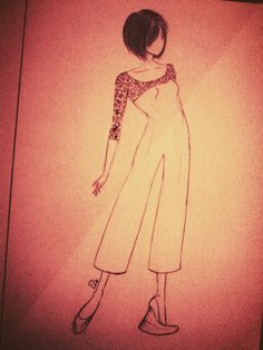 Brocade mix jumpsuit... create many sketch... create many happiness :D